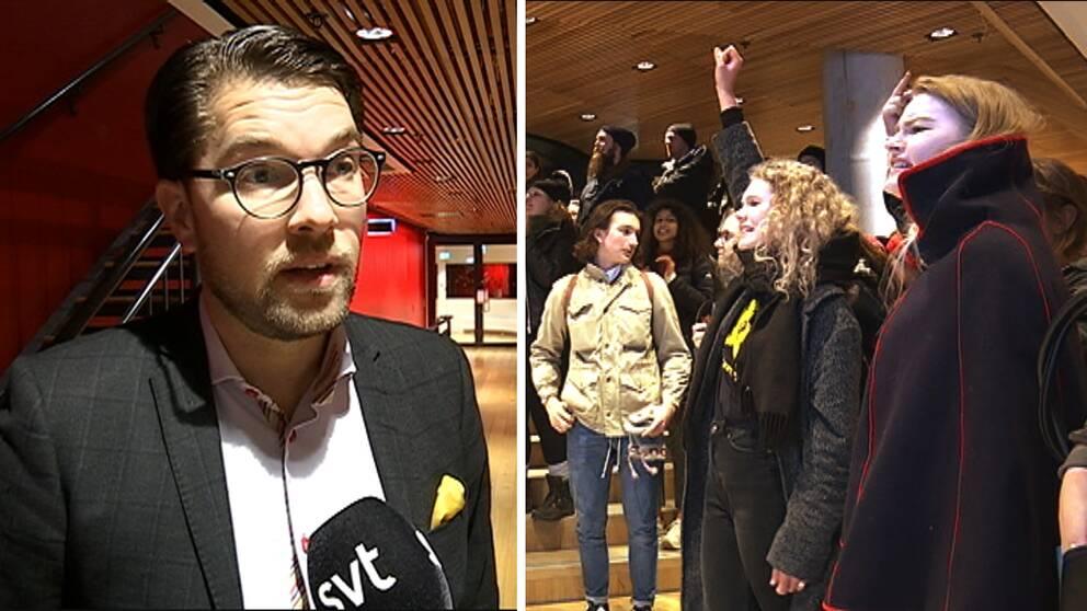 jimmie åkesson umeåa väven ung vänster protest
