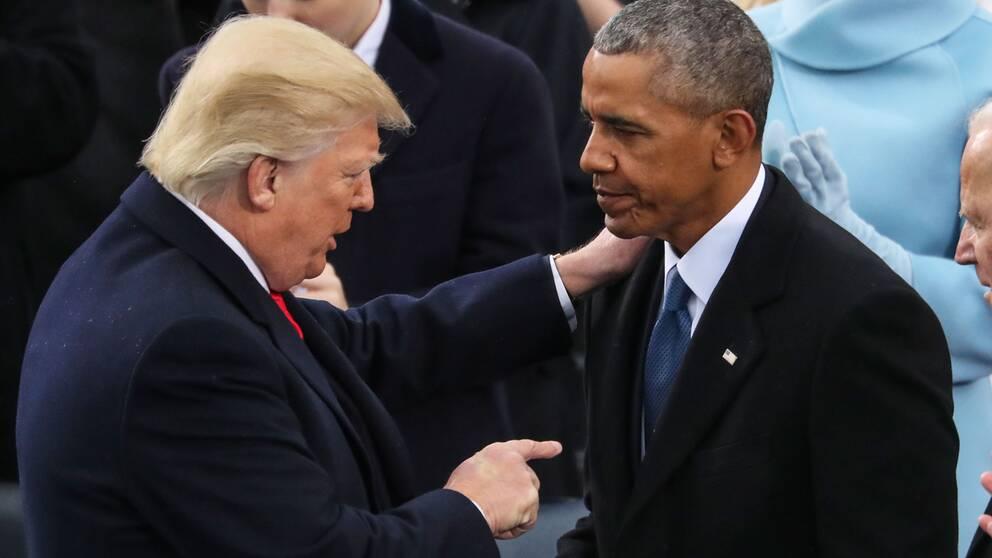 Donald Trump och Barack Obama.