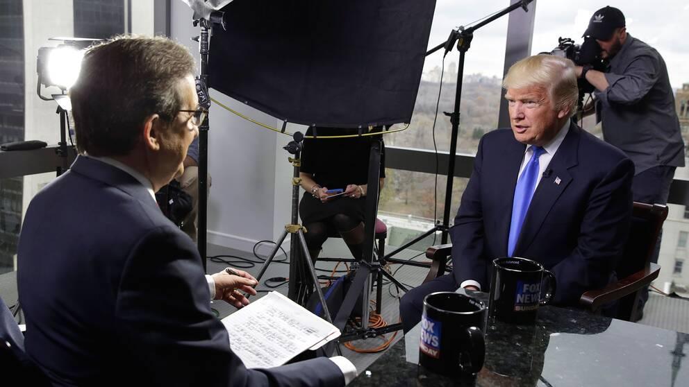 Donald Trump intervjuas av Fox News.