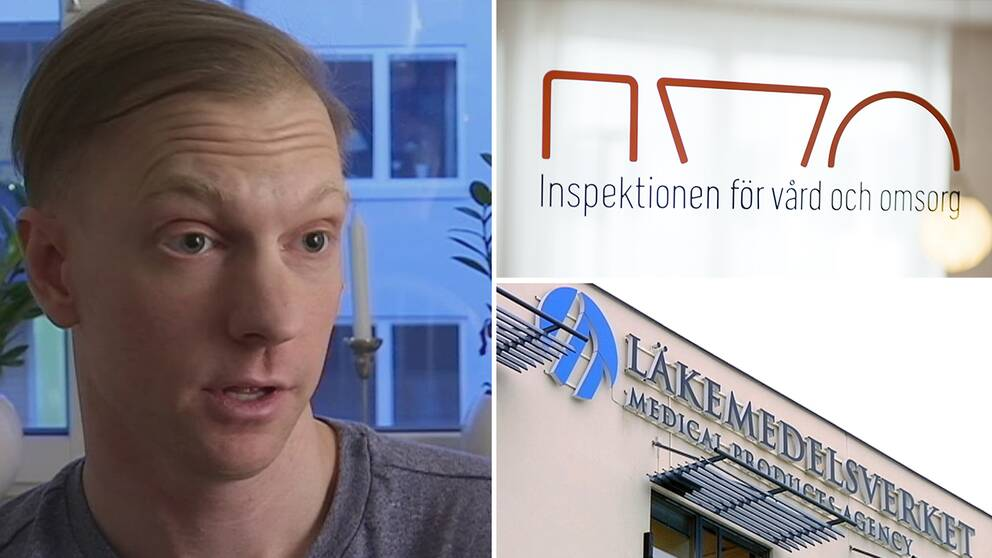 Max och logotyper för IVO och Läkemedelsverket.