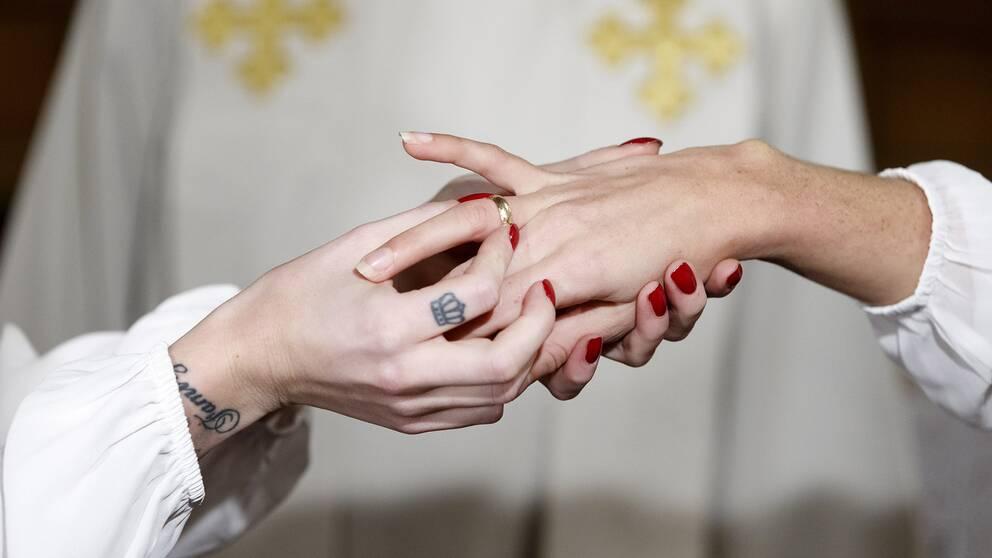 En samkönad vigsel i Norge mellan två kvinnor.