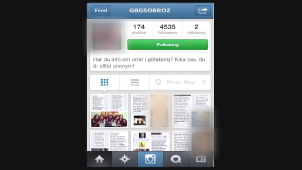 Instagramkontot Gbgsorroz