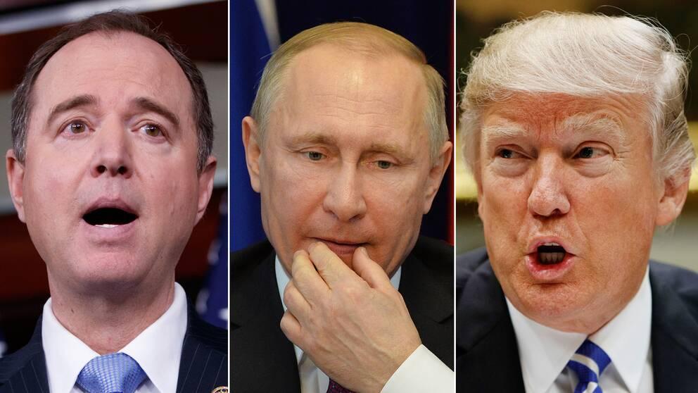 Demokratiske ledamoten i underrättelseutskottet i USA:s representanthus, Adam Schiff, annonserade utredningen som berör Rysslands president och USA:s president Donald Trump.