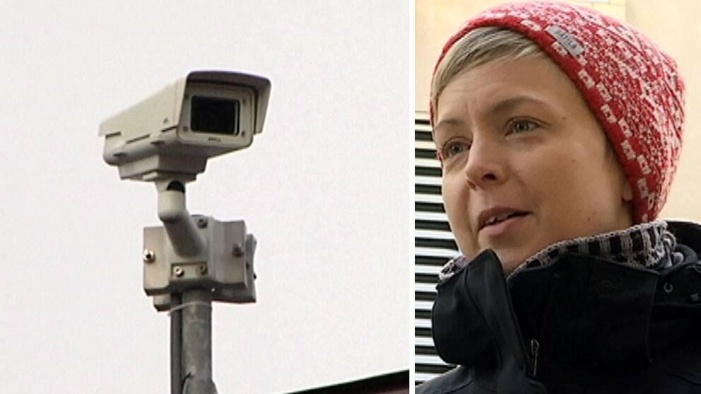 Forskaren Christel Backman ett varnande finger mot Göteborgs stads planer på ökad kameraövervakning.