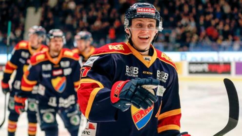 Djurgårdens Markus Ljungh jublar efter 3-0