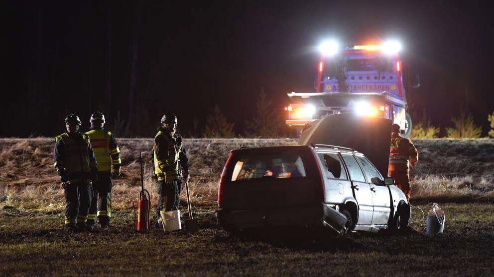 Biljakt slutade med kollision