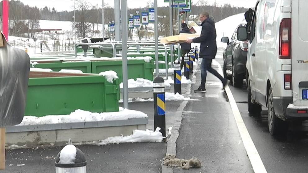 Nya sortergården på Råslätt.