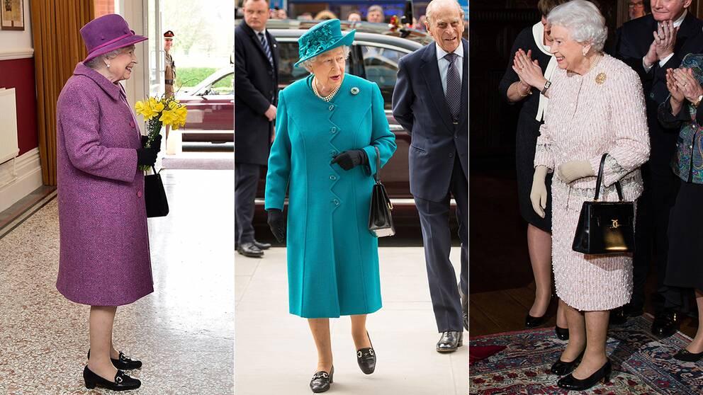 I officiella sammanhang ses sällan drottning Elizabeth utan sin svarta väska.