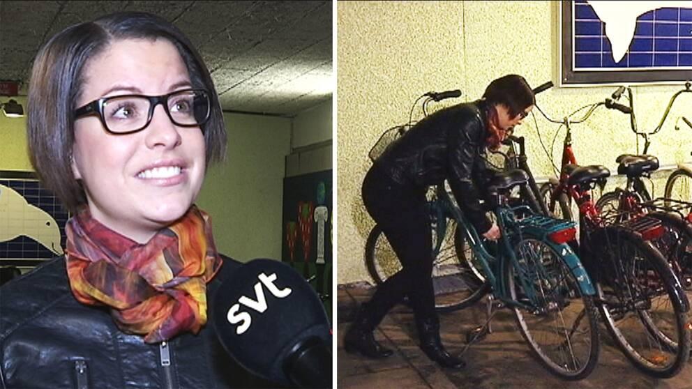 Sandra Gullicksson i Karlstad stod en natt öga mot öga med flera cykeltjuvar