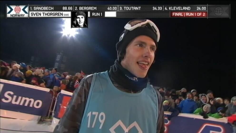 Sven Thorgren under X-games i Hafjell.