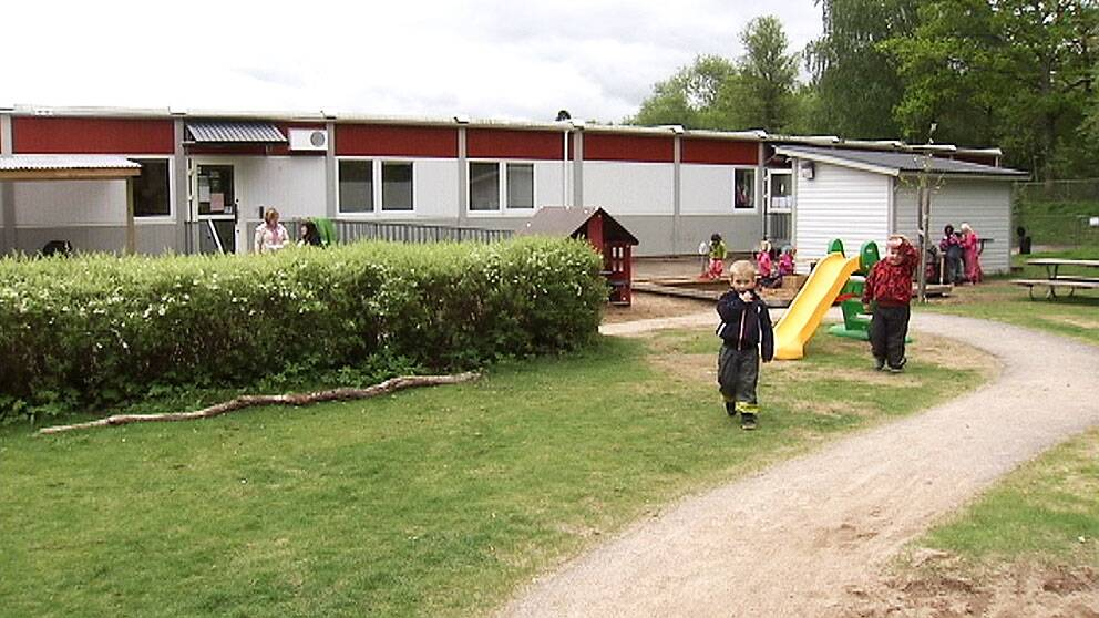 Förskolebarack i Norrköping.