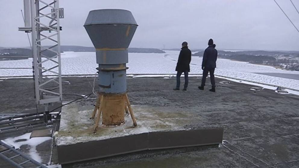 silo Kalmarsand Bålsta på taket