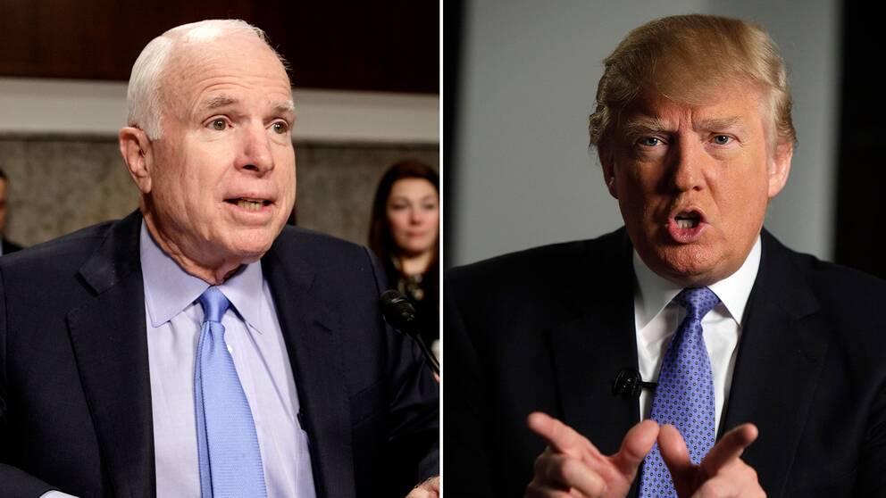 John McCain och Donald Trump är kända antagonister trots att de tillhör samma parti
