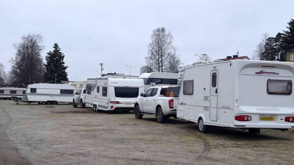 Det var här på Vegby camping som knivbråket inträffade under söndagskvällen.