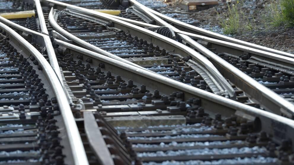 Genrebild över järnväg.