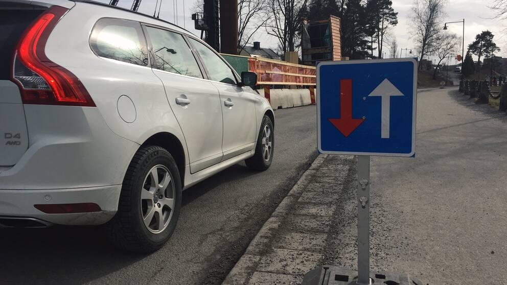 Slussgatan Södertälje avstängd