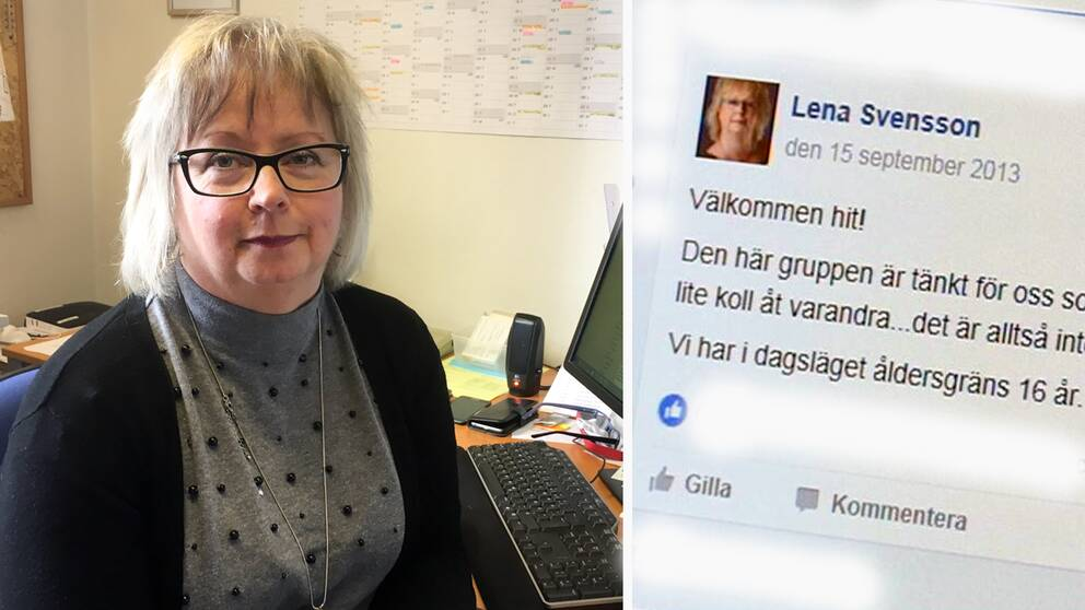 Lena Svensson driver facebook-gruppen i Mönsterås.