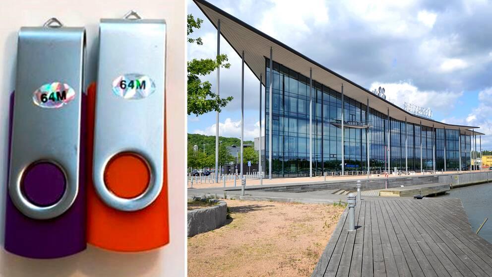 USB-stickorna hittades nära Kanalhuset i Göteborg där Sveriges Television och Sveriges Radio huserar.
