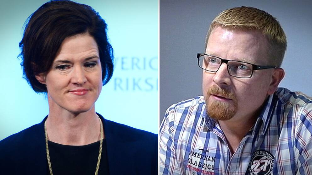 Moderaternas partiledare Anna Kinberg Batra och Simon Härenstam, gruppledare Moderaterna Gotland.