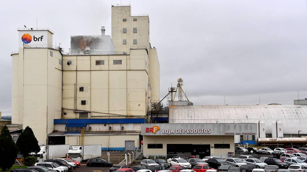 En av världens största aktörer i kycklingkött-branschen är brasilianska BRF, här är företagets fabrik i Chapeco.