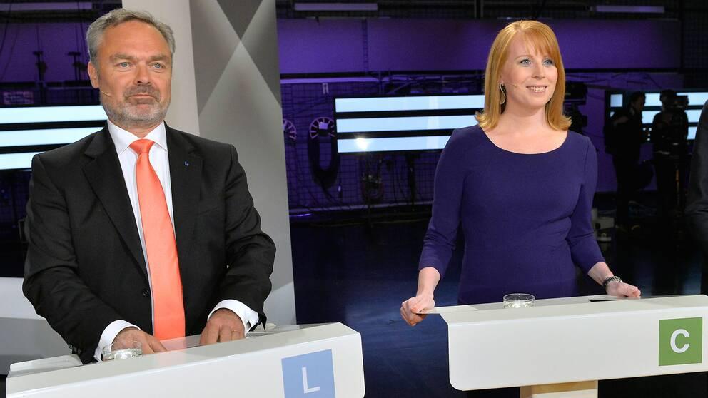Jan Björklund (L) och Annie Lööf (C)