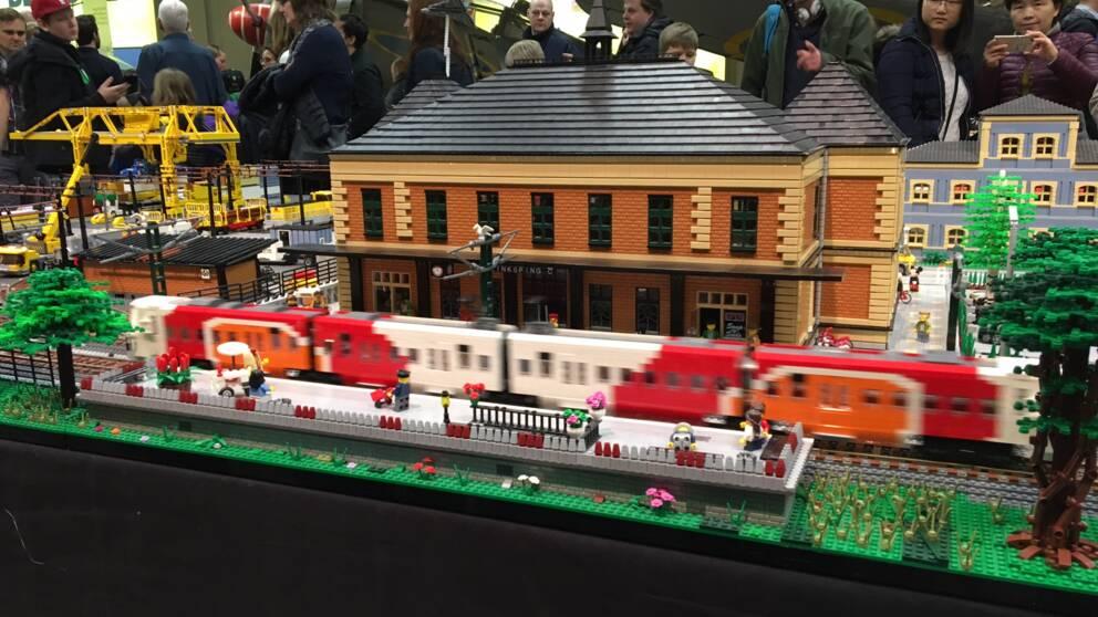 Legoutställning på Flygvapenmuseum
