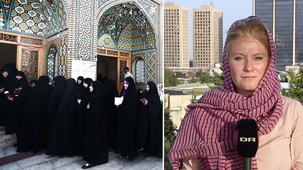 Danska DR:s Puk Damsgård på plats i Teheran.