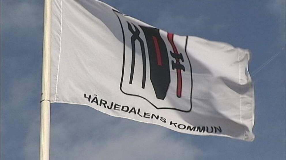 Flagga med Härjedalens kommun
