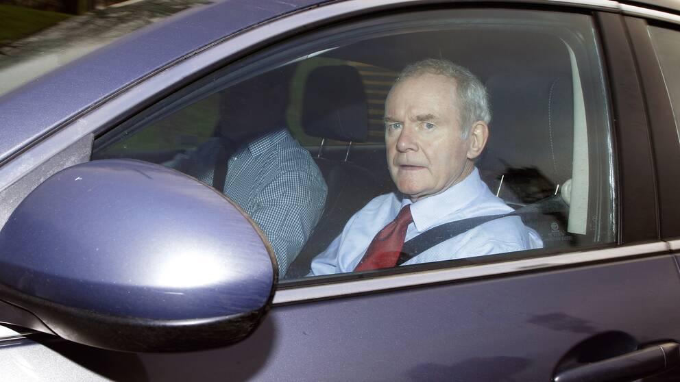 Martin McGuinness fotograferad inför det nordirländska nyvalet tidigare i år.