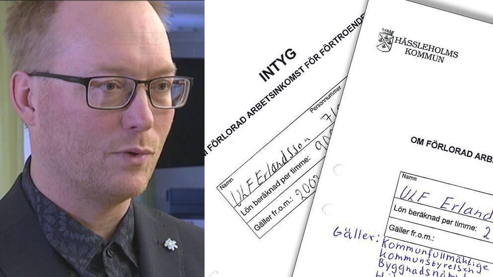Ulf Erlandsson och blanketter
