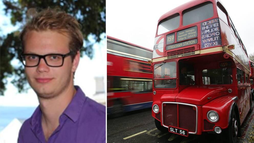 Frilansjournalisten August Graham befinner sig i London.