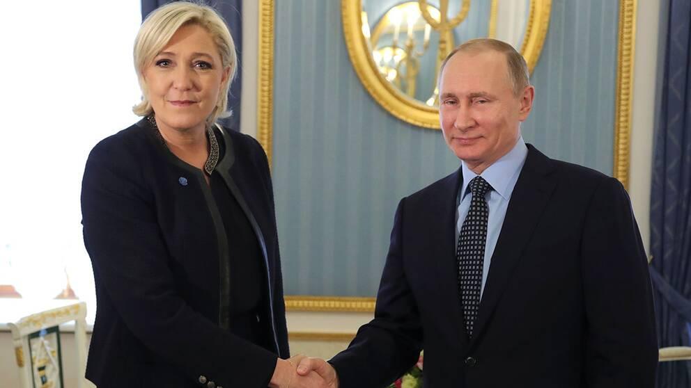 Marine le Pen och Vladimir Putin