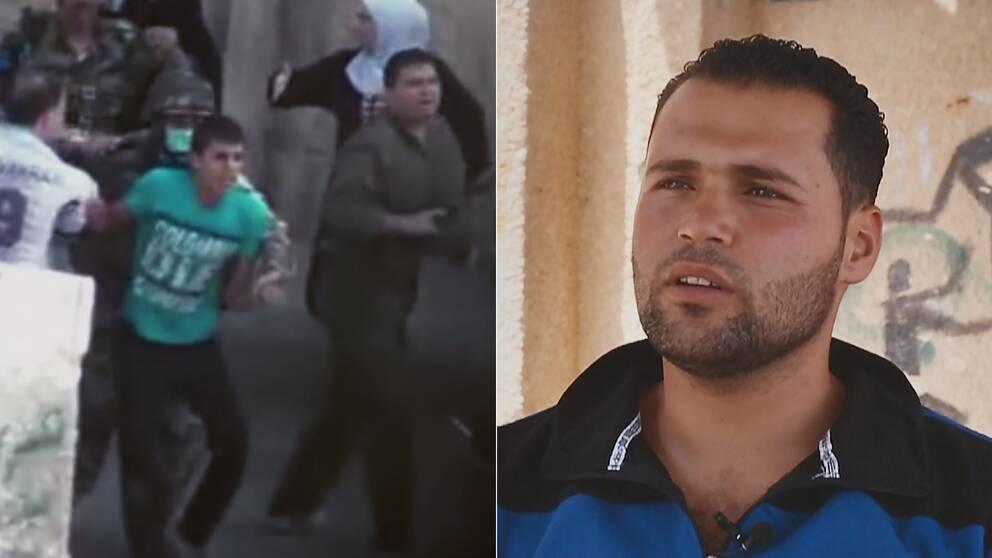 Samer, i dag 21 år, fängslades och torterades av den syriska regimen 2011 sedan han och hans kompisar klottrat en protest mot al-Assad.