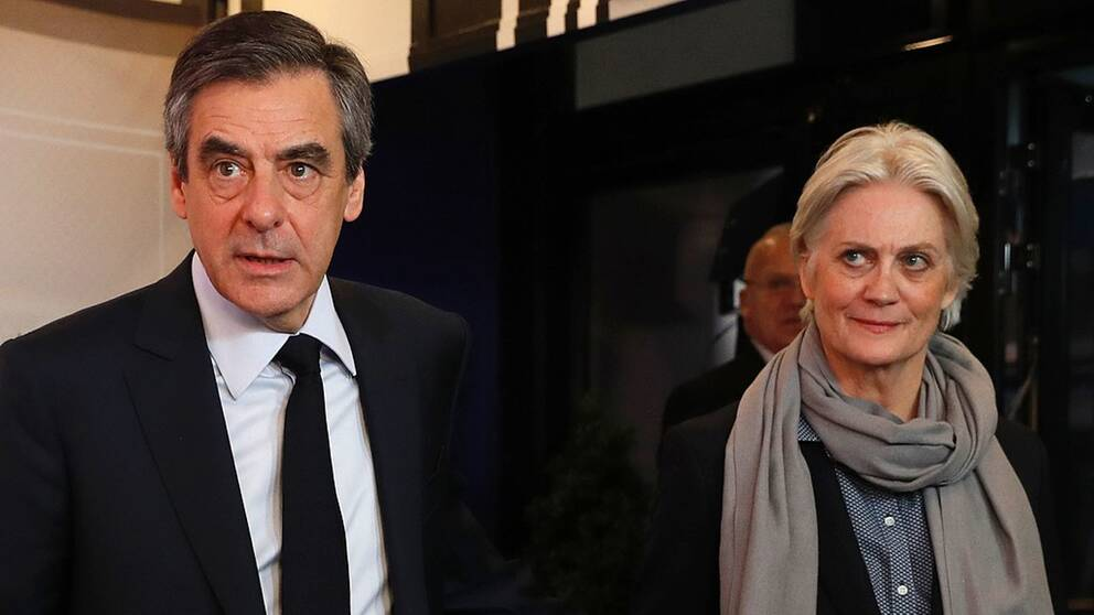 Francois Fillonoch hans fru Penelope Fillon.