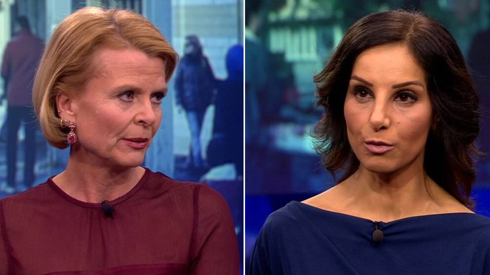 Jämställdhetsminister Åsa Regnér (S) och den liberala debattören Hanna Gadban.
