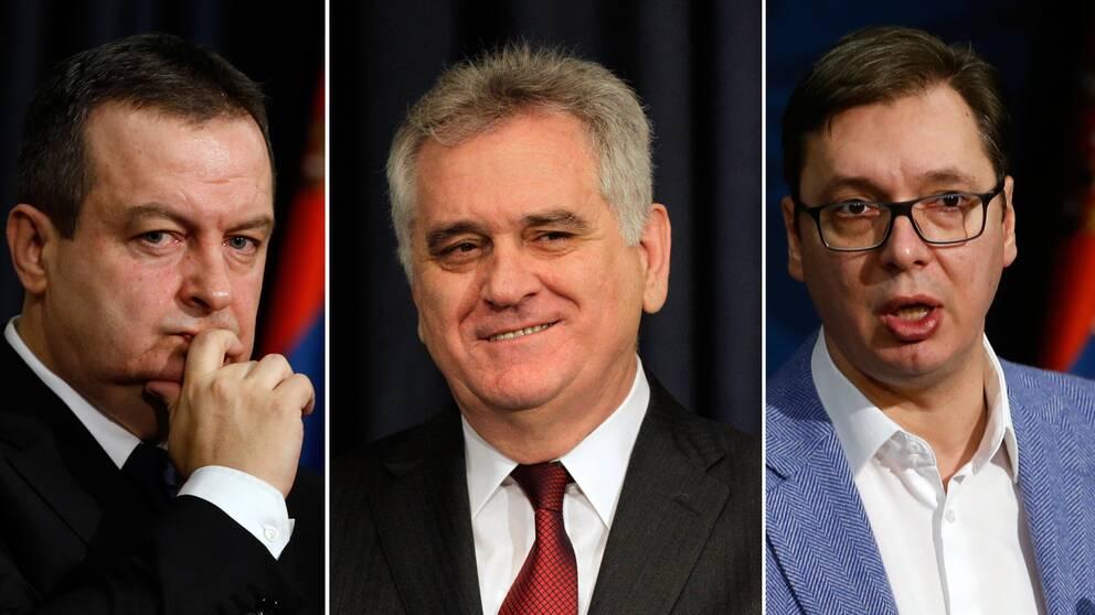 Ivica Dacic, Tomislav Nikolic och Aleksandar Vucic.