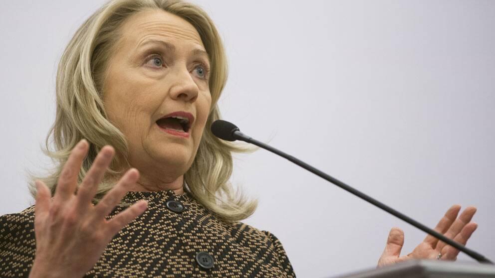 USA:s utrikesminister Hillary Clinton. Foto: Scanpix