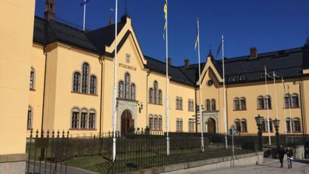 Öst Linköping stadshus vinter ej snö