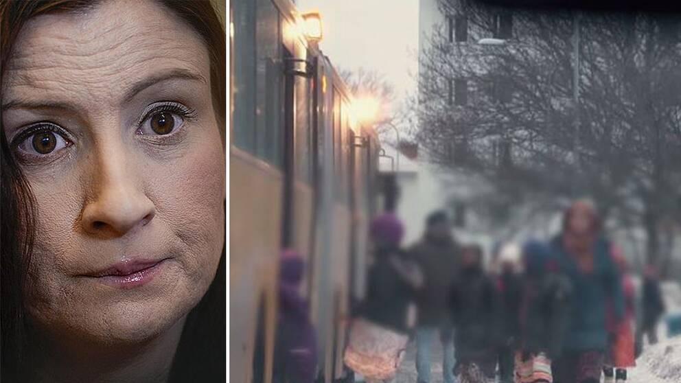Reaktionerna har varit starka efter TV4 Kalla Faktas avslöjande (20160404) om självutnämnda moralpoliser som trakasserar kvinnor runtom i Sverige och hur bland annat skolbarn separeras på skolbussen så att pojkarna får gå på och sitta fram medan flickorna går på och sitter bak.
