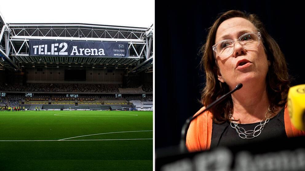 Man utgår ifrån att supportrar ligger bakom, enligt Madeleine Sjöstedt, kultur- och fastighetsborgarråd.