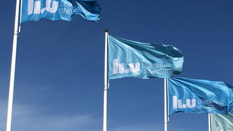 Öst Liu flagga Linköpings universitet