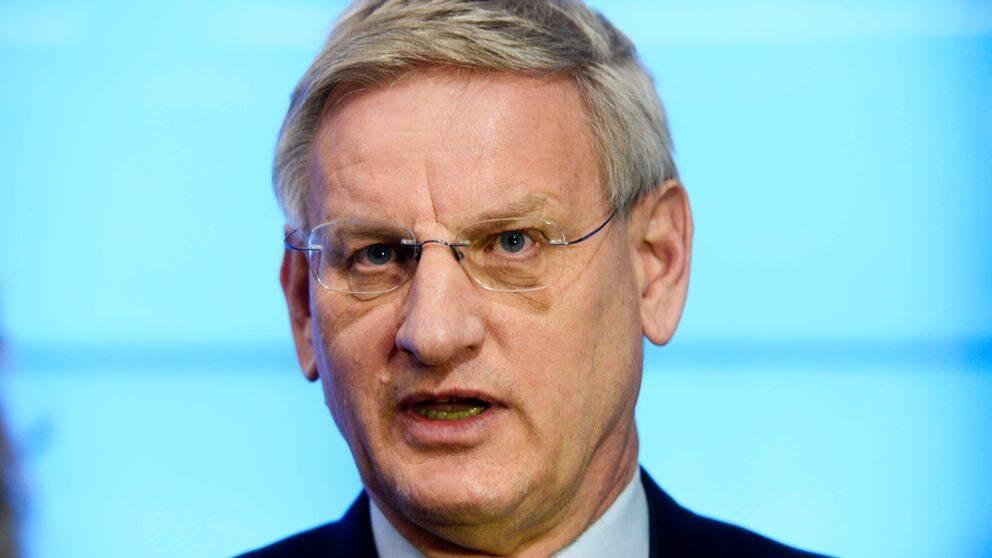 Före detta utrikesminister Carl Bildt (M).
