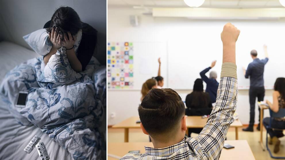 Det pratas för lite om psykisk ohälsa på gymnasiet tycker elever i Blekinge.