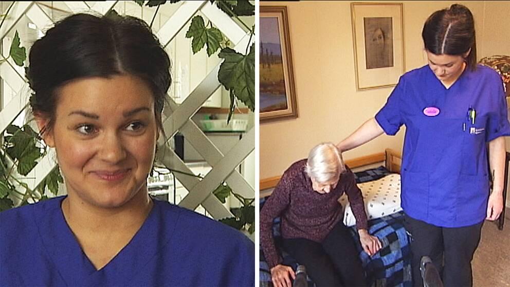 Isabella Kärrman går den nya undersköterskeutbildningen