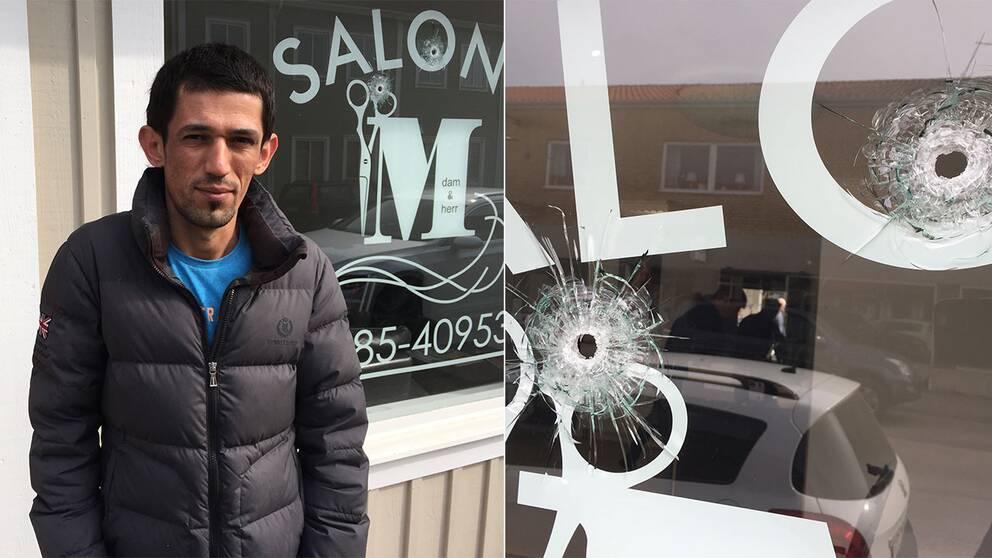 Mehvan Tama Ayoub äger frisörsalongen som besköts