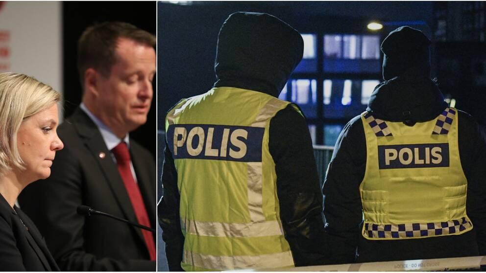 Socialdemokraterna vill ha 10000 nya poliser.