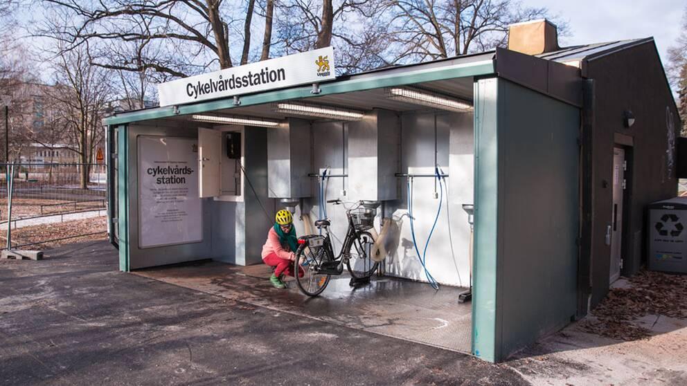 Uppsala har invigt den första cykelvårdsstationen