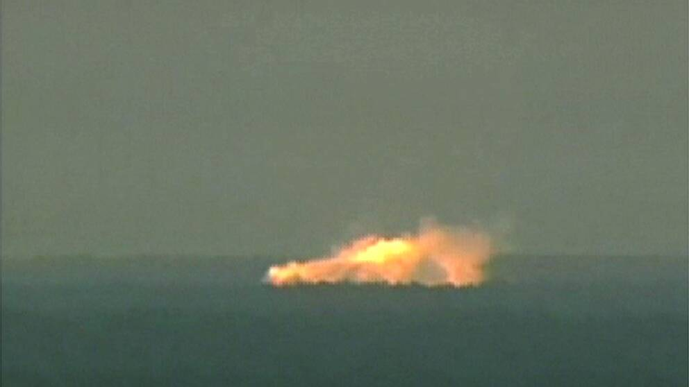 Ett test av bomben GBU-43/B i Florida den 11 mars 2003.