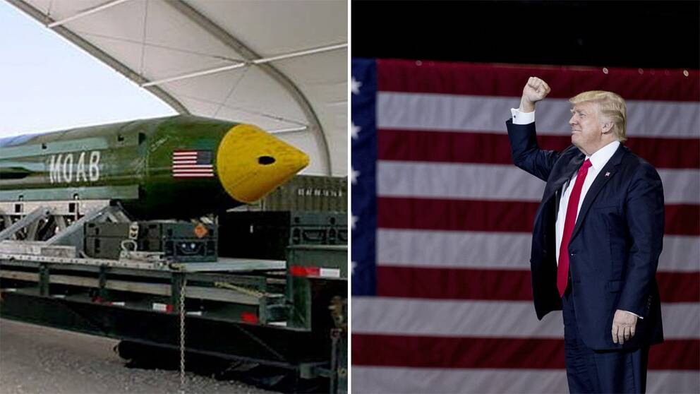 Bomben och Donald Trump