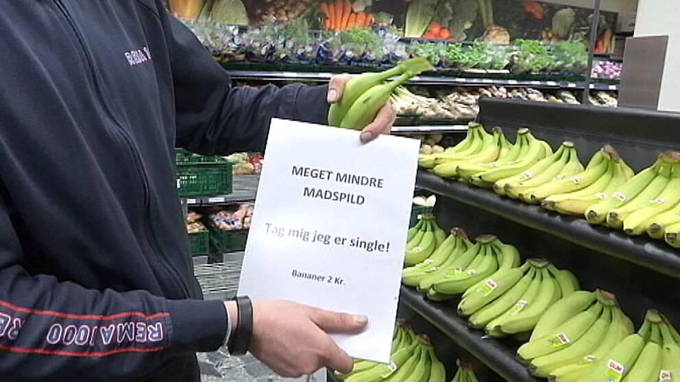 Enstaka bananer reas ut för att de inte ska bli över